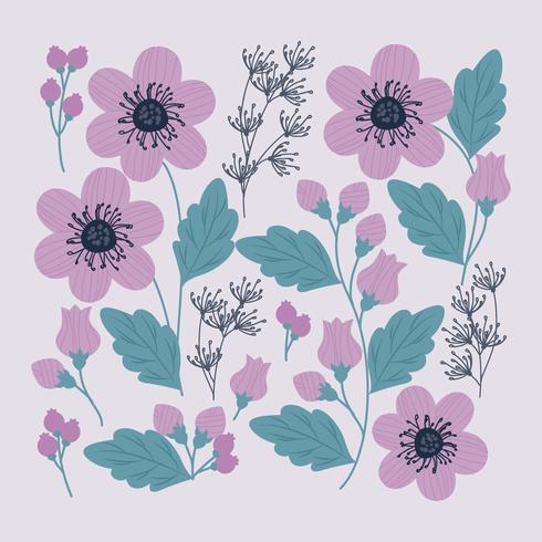 Vector Flower Clipart Set