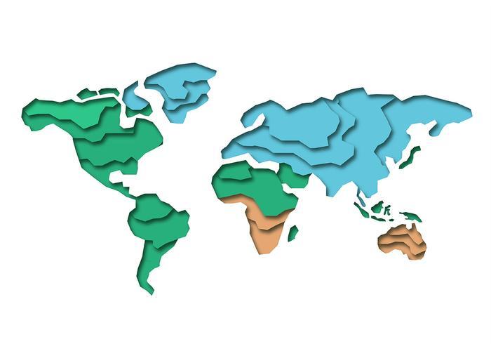 Mapa Internacional 3D vector
