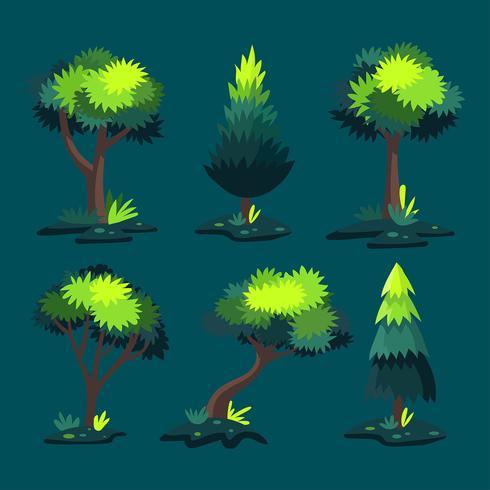 Fantasie-Baum Clipart-gesetzter Vektor