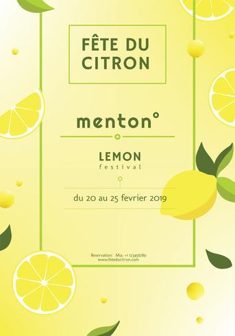 menton citroen festival vector ontwerp