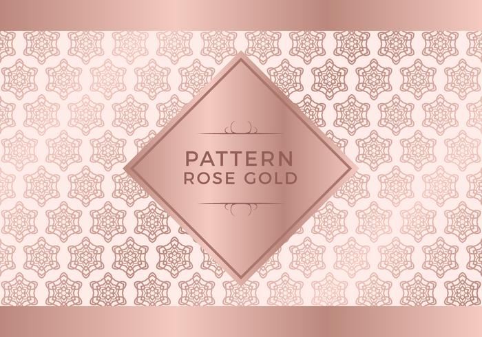 Rosegold patroon achtergrond