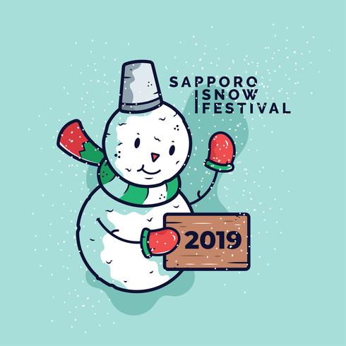Vector De La Fiesta De La Nieve De Sapporo