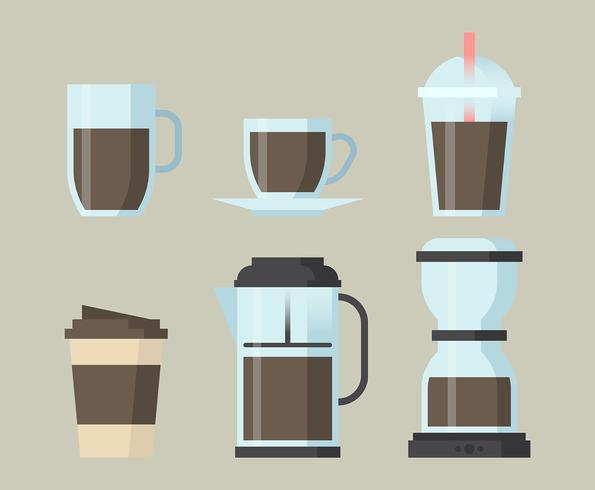 Coffee Elements Clipart Set  vector