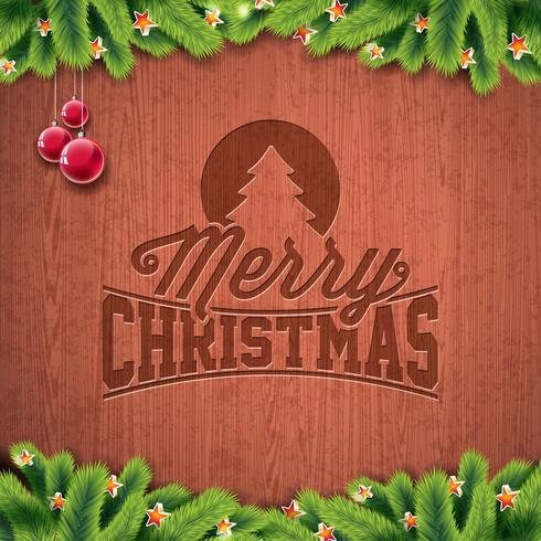 Illustration de vecteur joyeux Noël et bonne année