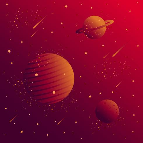 Red Galaxy Background Vector