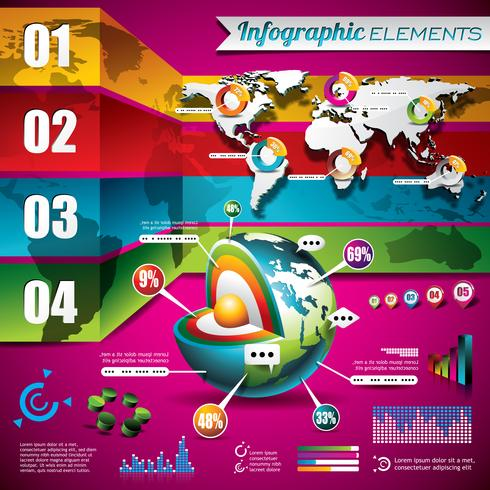 Vektor teknik design uppsättning infographic element