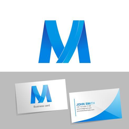 Verlaufslogo mit dem Buchstaben des Logos