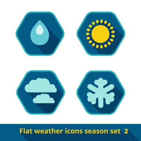 Conjunto de iconos de clima vector