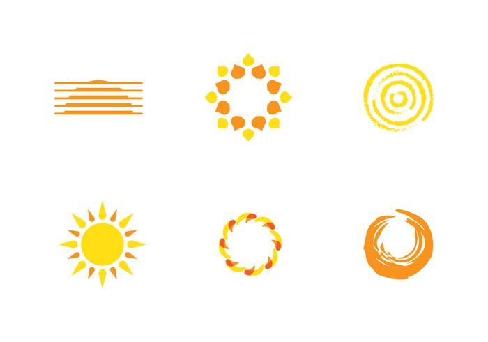 logo du soleil vecteur