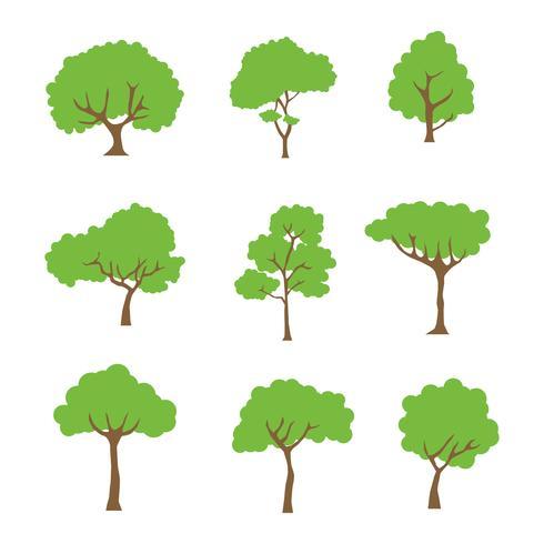 Baum Clipart Set Vektor-Sammlung