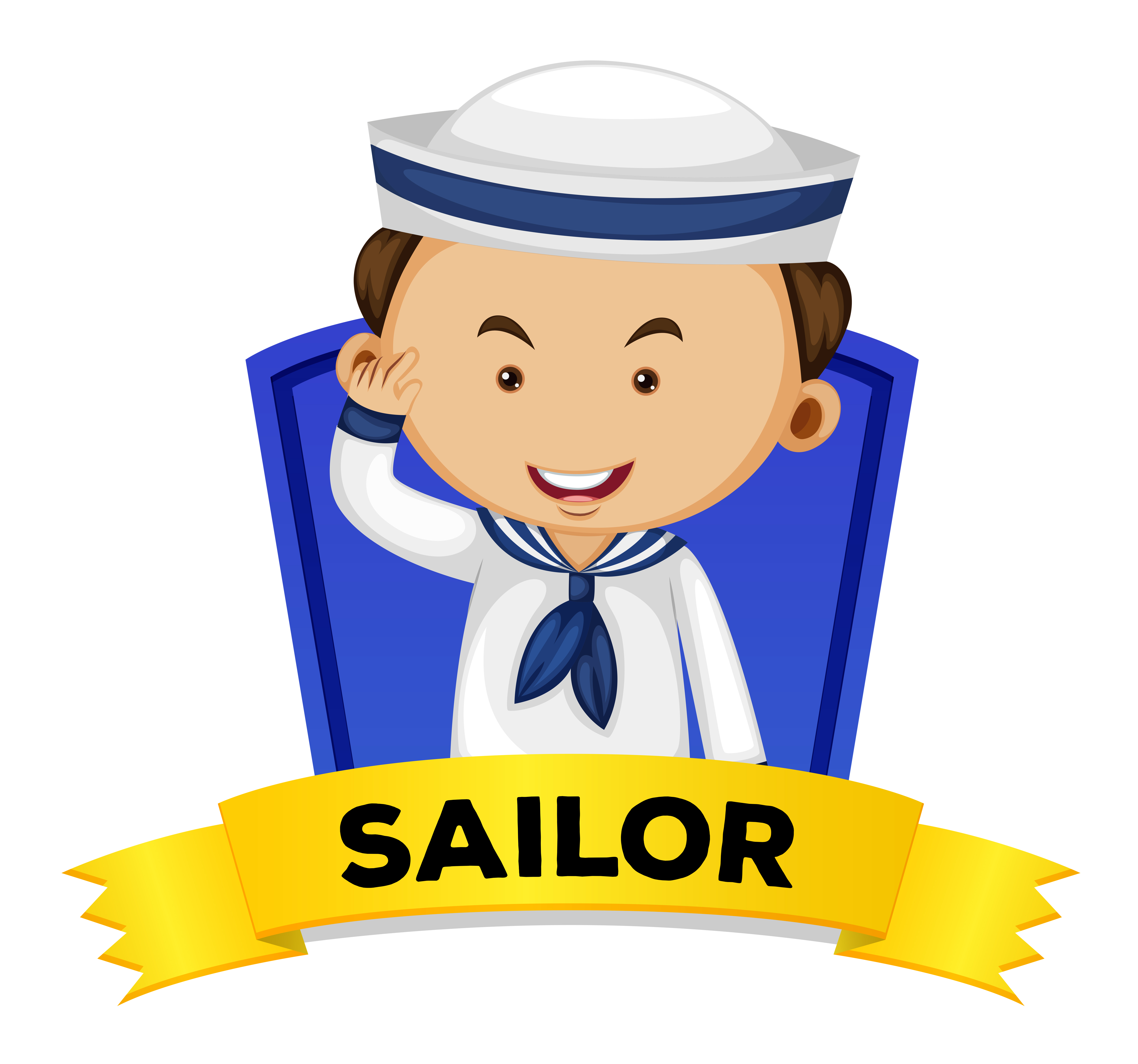 Occupation wordcard with sailor - Download Free Vectors ...