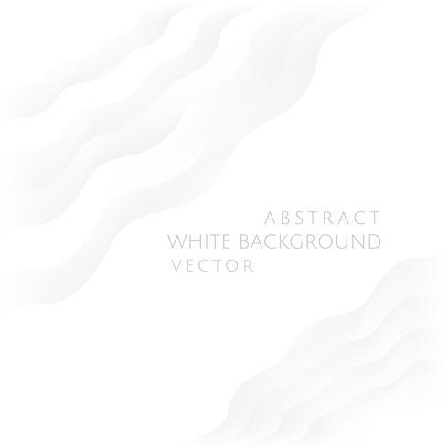 Vetor de fundo branco abstrato