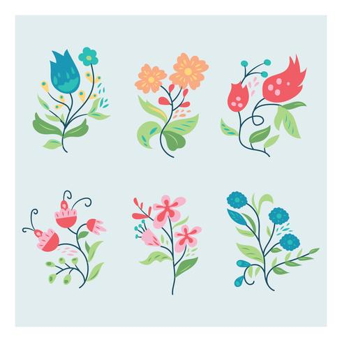 Floral Set and Composition vector