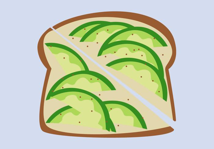 Healthy Avocado Toast Vectors