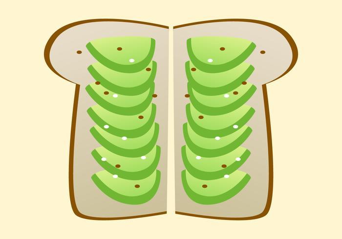 Vettori sani del pane tostato dell'avocado