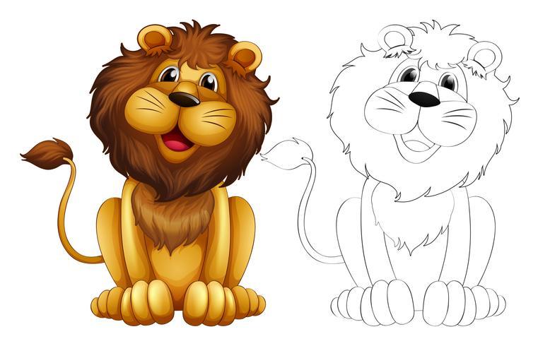 Contorno animal para leão selvagem
