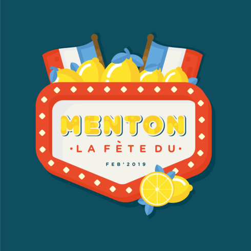 Menton France Citron Festival Vector