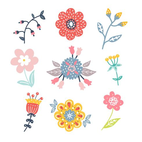Hand Drawn Flower Clipart Pack