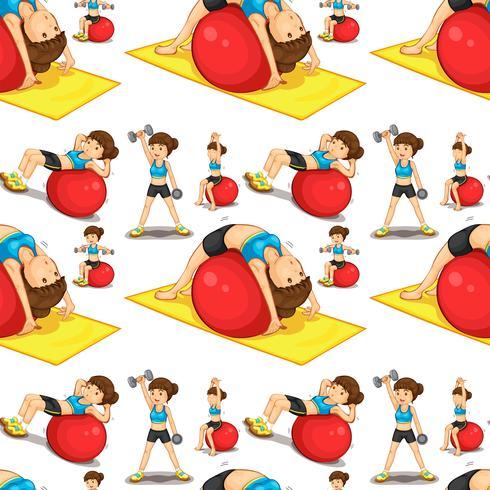 Femme sans couture faisant des exercices
