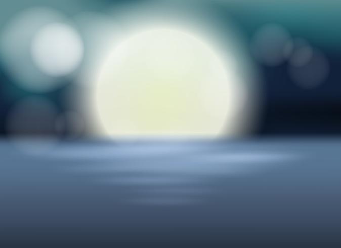 A blur full moon template