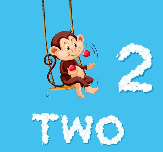 Macaco malabarismo duas bolas