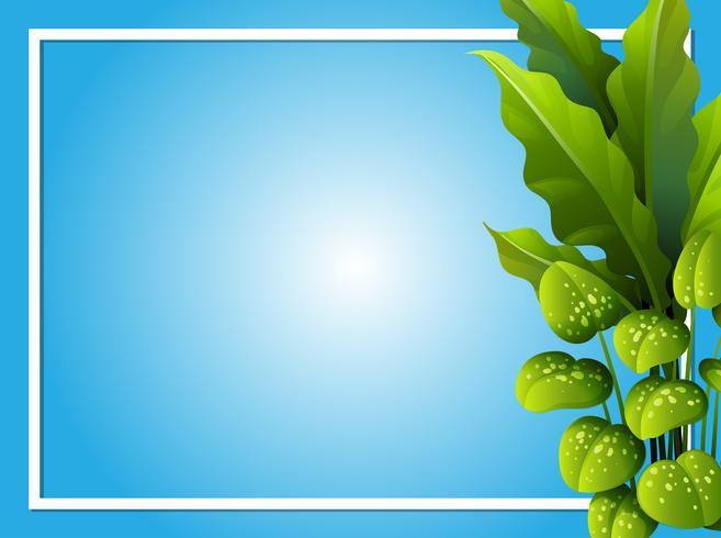 Grenzschablone mit grünen Blättern