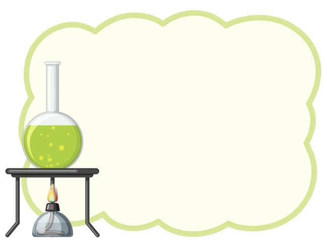 Modello di confine con chimica verde
