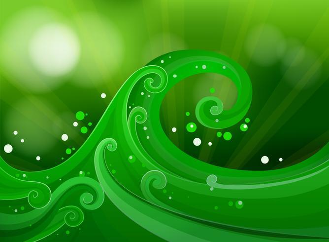 Green gradient design
