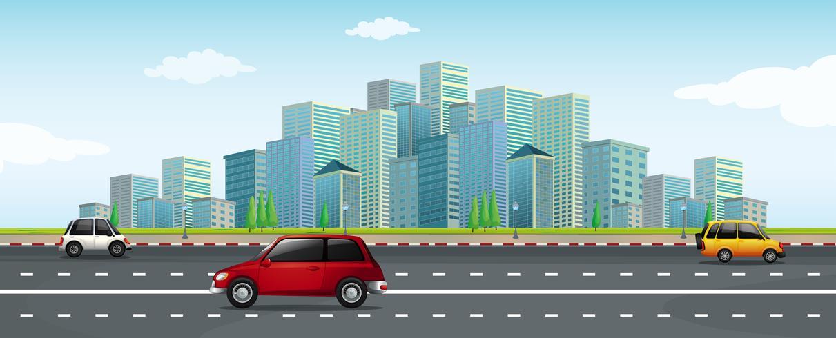 Conduire une voiture dans la grande ville