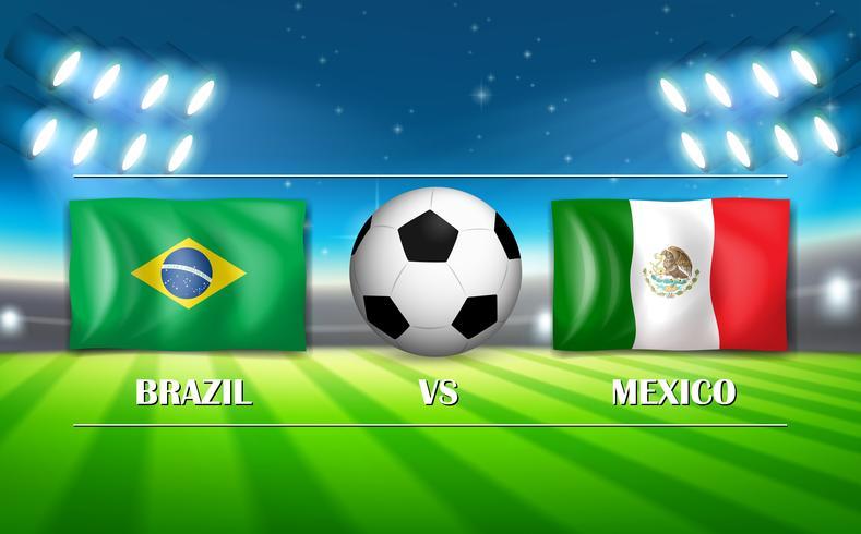 Brasilien gegen Mexiko-Fußballstadion