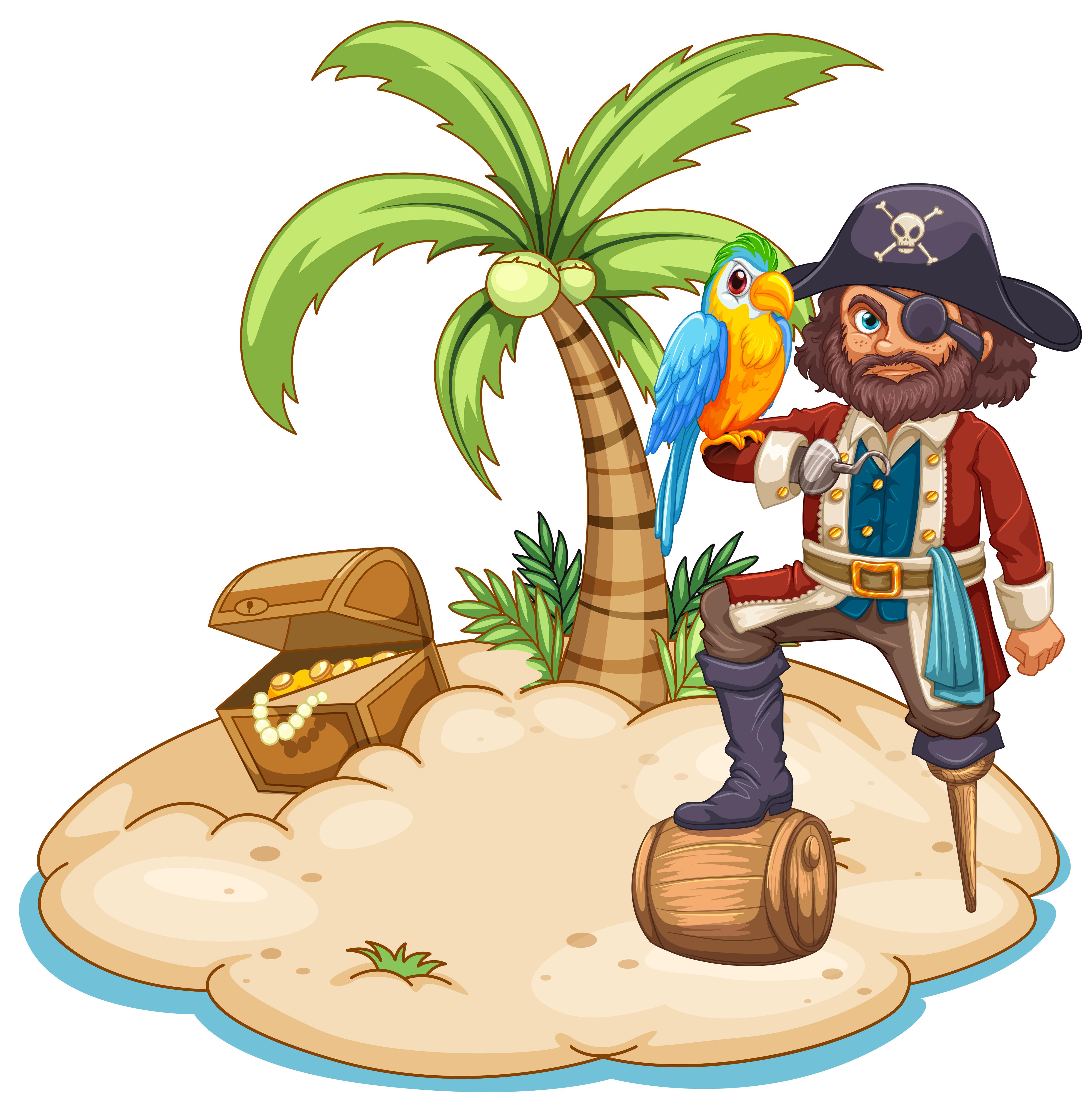 этом рисунок пираты на острове перечень всех элементов
