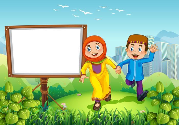 Progettazione del confine con coppia musulmana