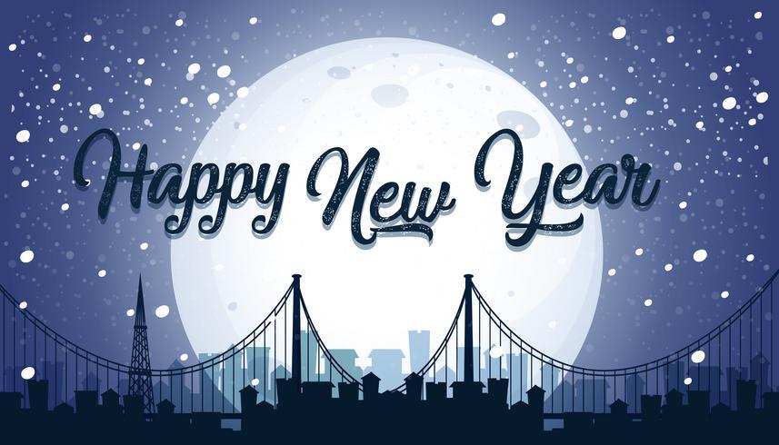 Gelukkig Nieuwjaar stad achtergrond