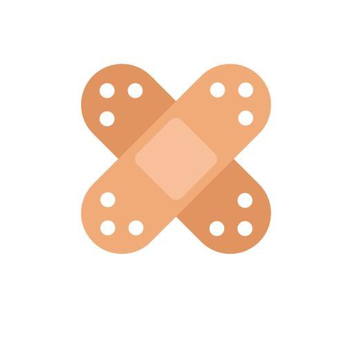 Icona con due cerotti medicali. Illustrazione piatta vettoriale
