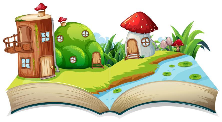 Un livre de fées à livre ouvert