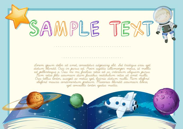 Diploma with astronomy book background