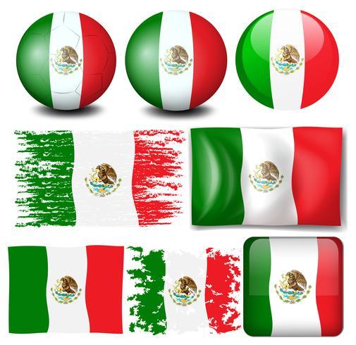 Vlag van Mexico in veel ontwerp