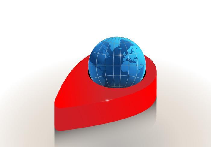 3D International Globe Map