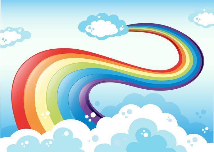 Regenbogen und Himmel