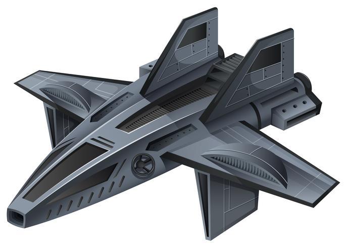 Grijs ruimteschip met vleugels