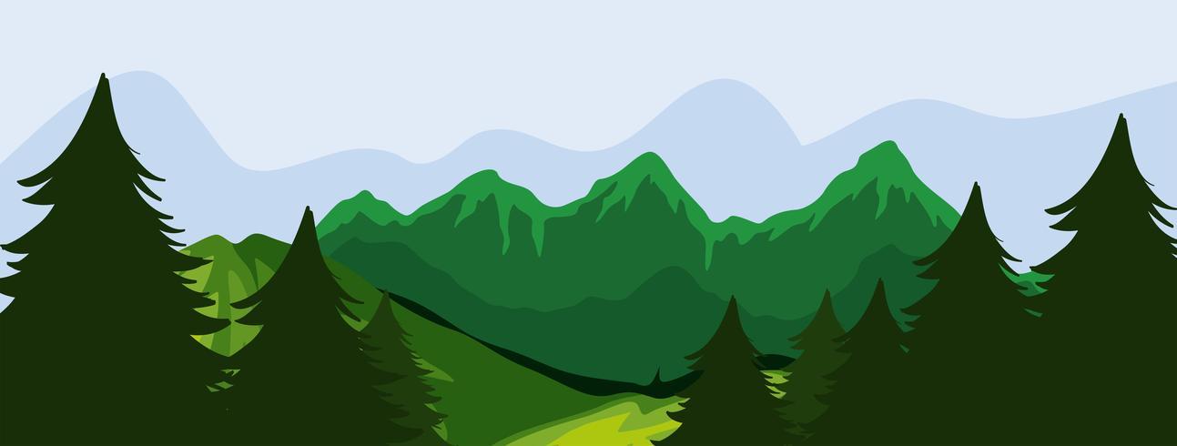 Bos en bergen scène