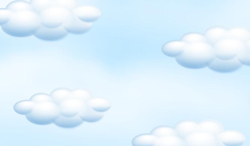 Ein bewölkter blauer Himmel