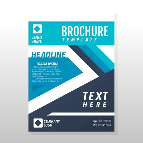 Design de brochura de negócios vetor