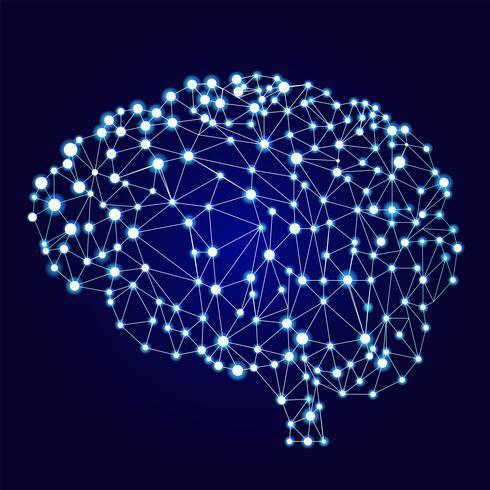 Artificiell neuralt nätverk banner. En form av connectionism ANNs. Datorsystem inspirerade av de biologiska neurala nätverken. Vektor illustration