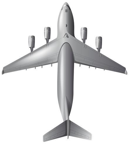 Aeroplano dell'esercito su priorità bassa bianca