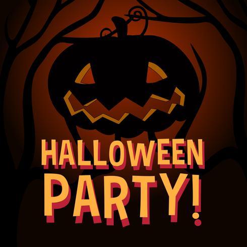 Halloween tema med pumpa