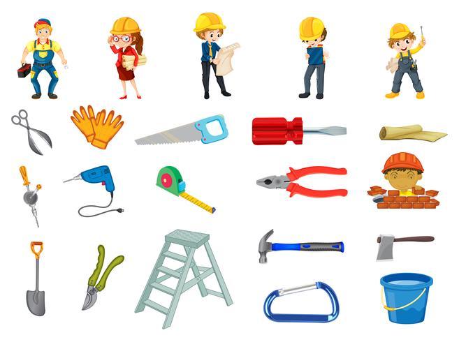 Conjunto trabajador de la construcción
