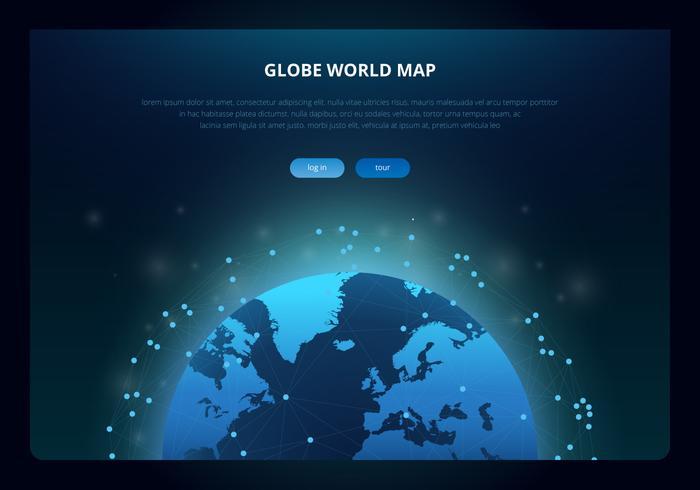 3D International Globe Map vector
