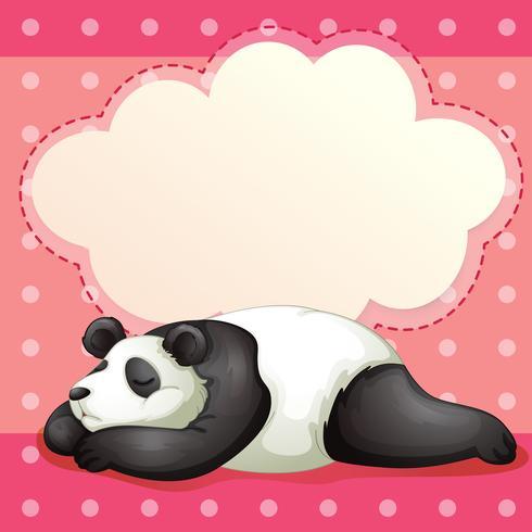 Een beer slapend met een lege callout