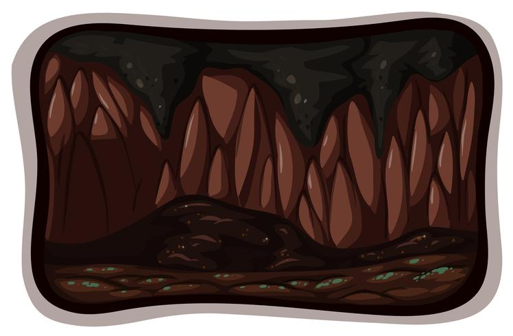 Uma caverna escura sobre fundo branco